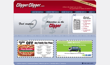 screenshot of ClipperClipper.com homepage